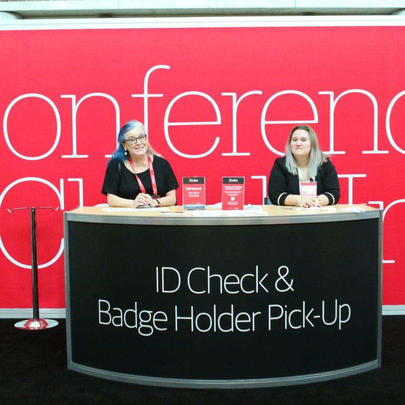 Custom Registration Counter & Backwall
