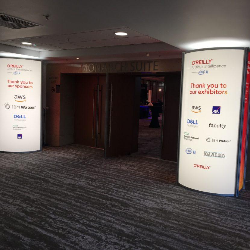 Backlit Entrance Unit Feature - Hilton London Metropole