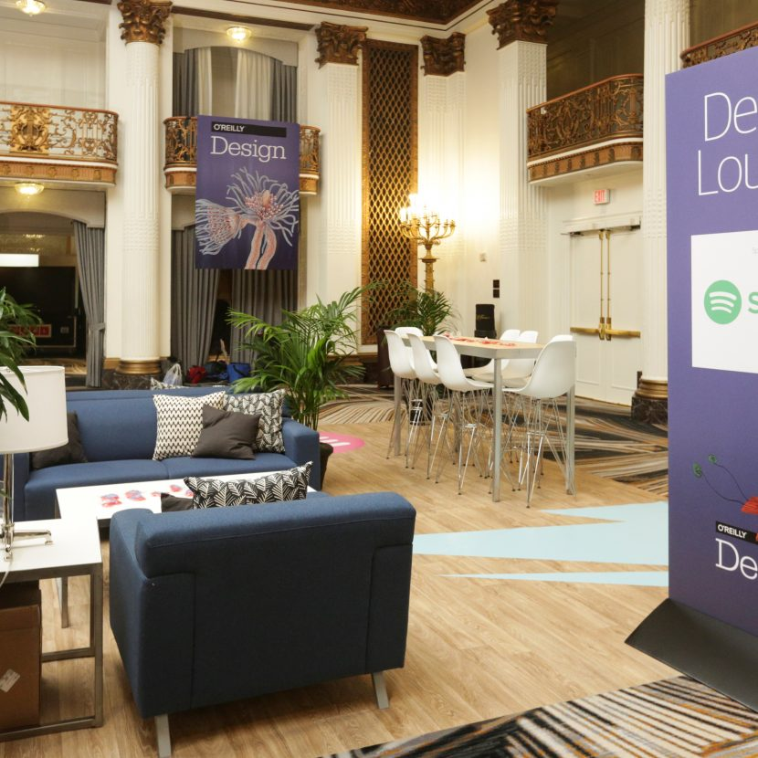 Corporate Meeting with Lounge Exhibits