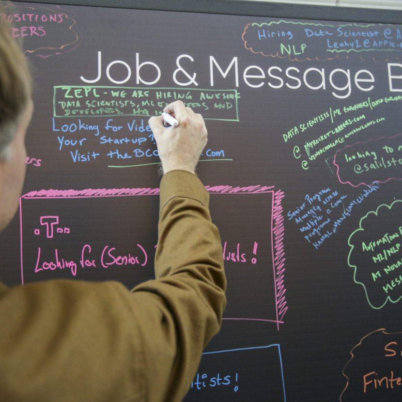 Job & Message Chalkboard Graphic