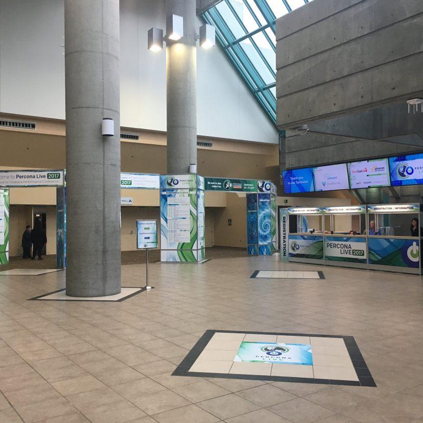 Santa Clara Convention Center Registration & Entrance Feature