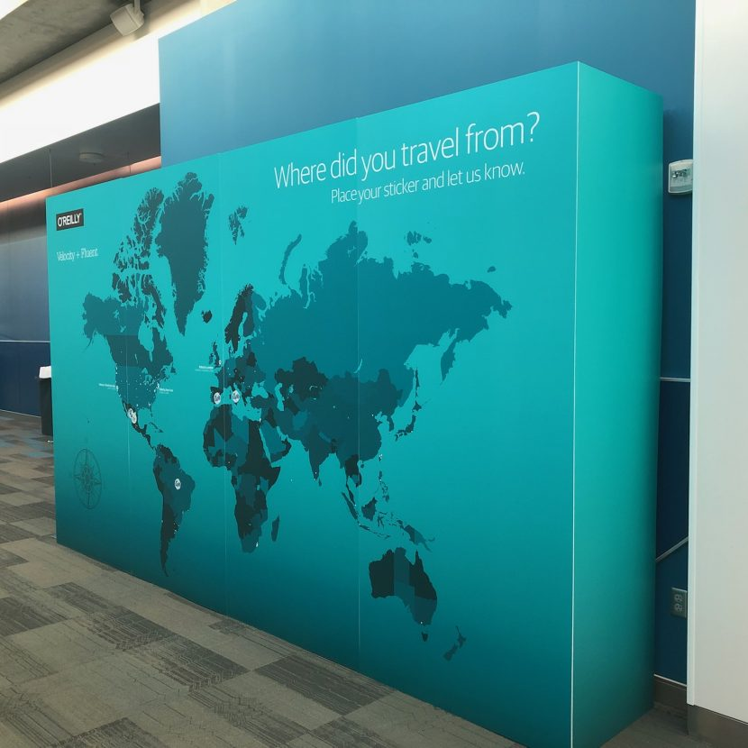 Where in the World Interactive Graphic Wall